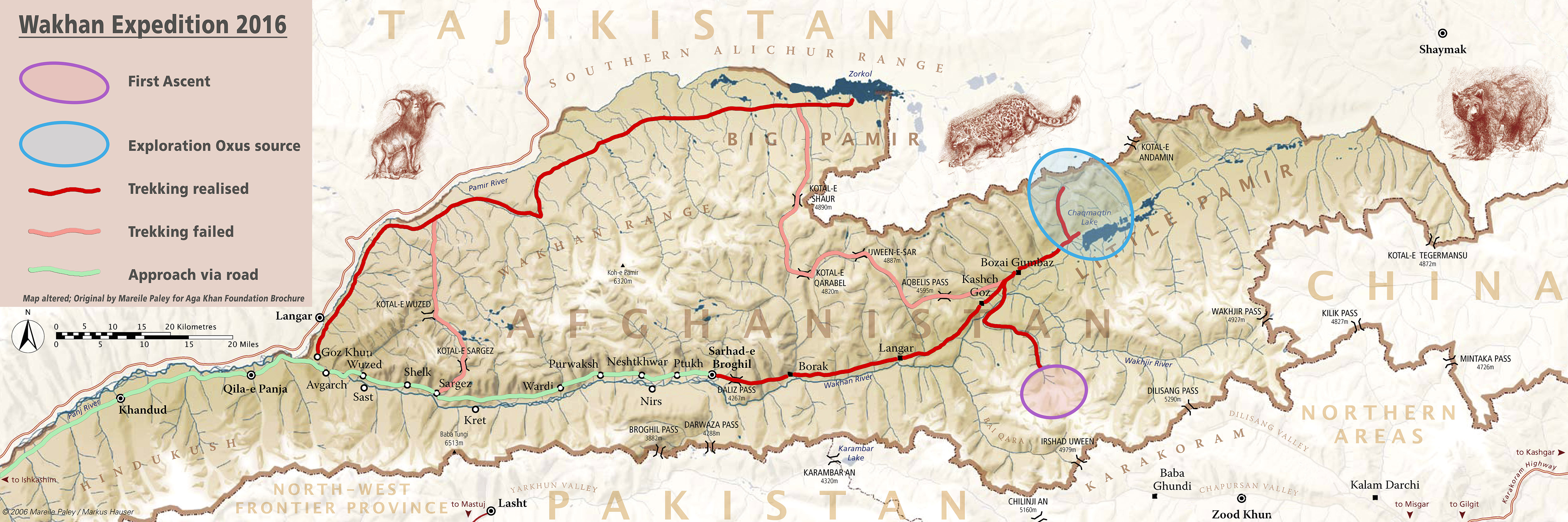 Trekking routes of our expedition