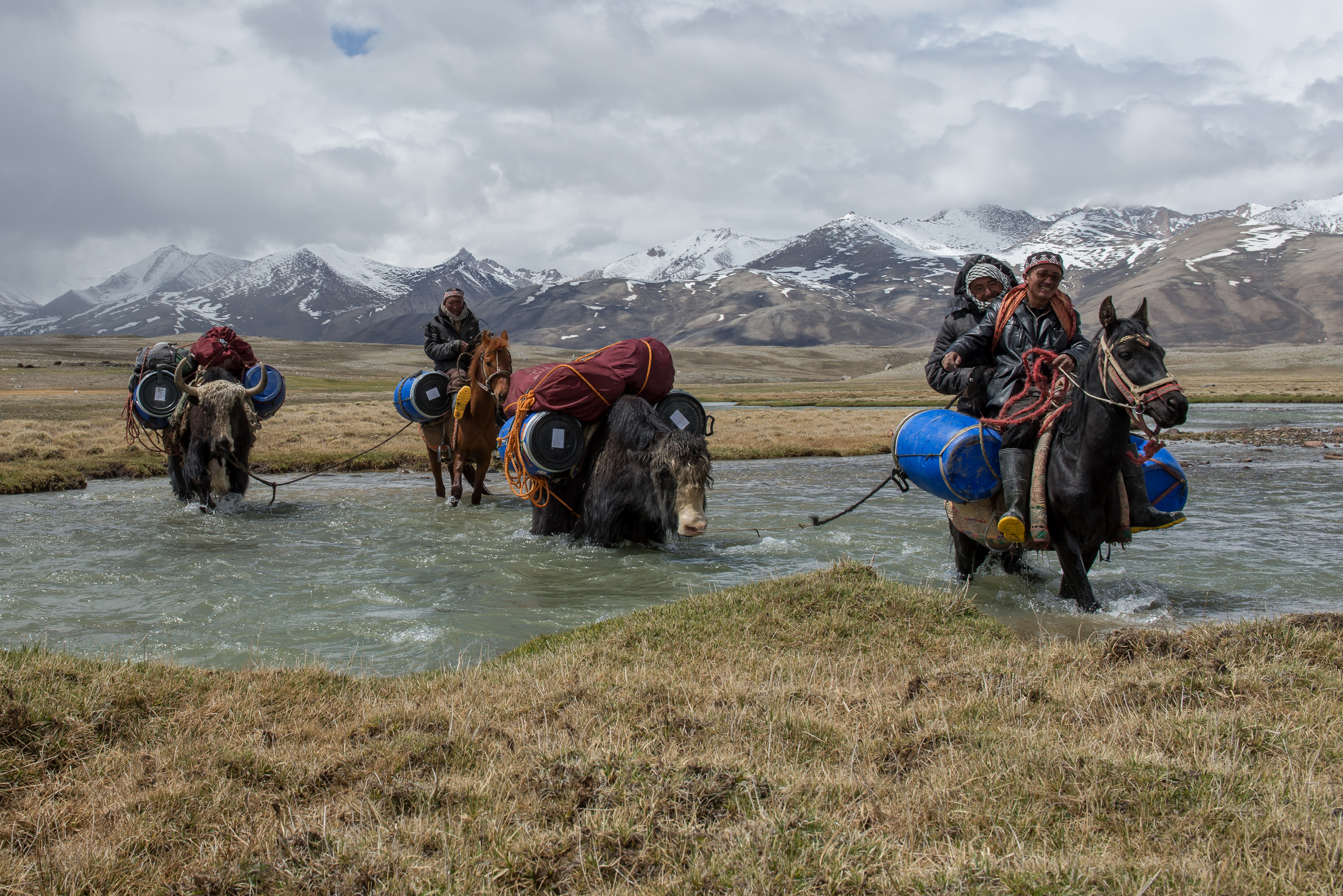 River crossing in Big Pamir